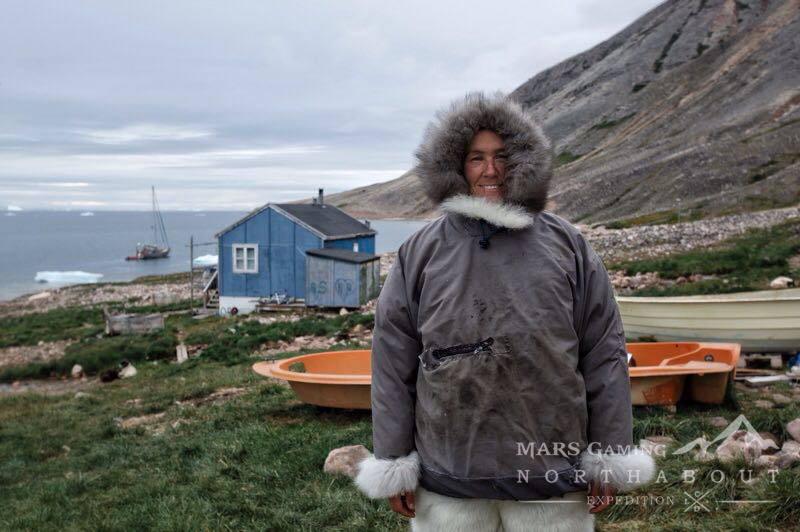 Maria Valencia dressed in Winter Inuit clothes