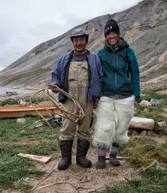 María Valencia vestida de inuit